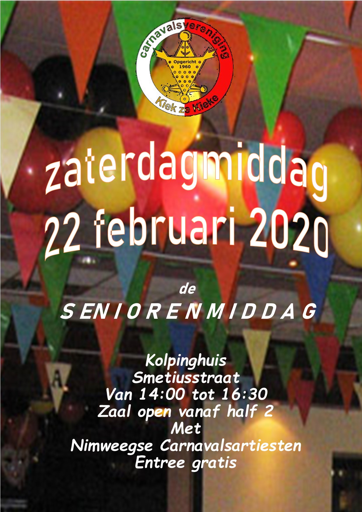 Flyer Seniorenmiddag 2020